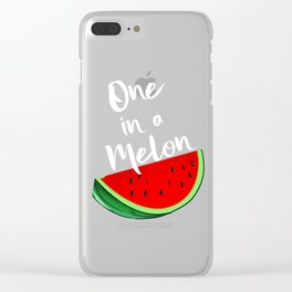 One In A Melon Tropical Summer Vibes Fruit Clear iPhone Case