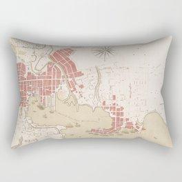 Vintage Map of Baltimore MD (1793) Rectangular Pillow