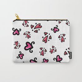 Valentine's Day Love & Hearts Sketchy Doodles, seamless pattern Carry-All Pouch