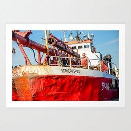 Le navire rouge Art Print