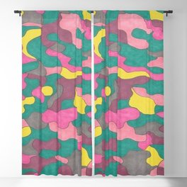 Jewel Tone Abstract Blackout Curtain