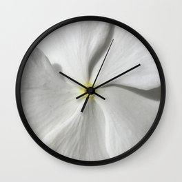 White Petal Wall Clock