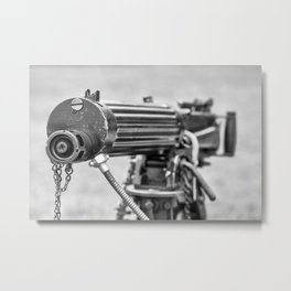 Vickers Machine Gun Metal Print