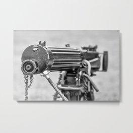 Vickers Machine Gun Metal Print