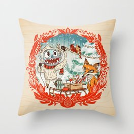 Golly Jolly Holly Throw Pillow