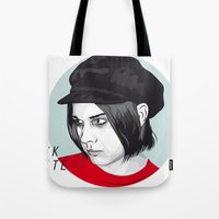 jack white Tote Bags featuring JACK WHITE by Nuk_