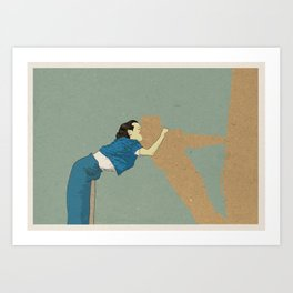 Big absence illustration Art Print