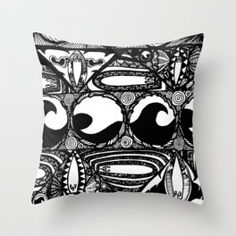 Psychedelic Surf II Throw Pillow