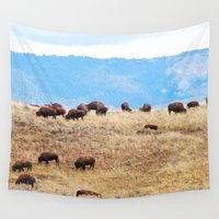 buffalo Wall Tapestries featuring Buffalo Plains by Martin Harwood