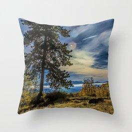 Atmospheric Flare Throw Pillow