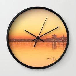 Orange Davenport Wall Clock