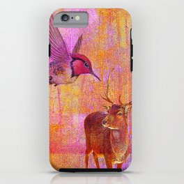 The loves platonic of the hummingbird and the deer iPhone Case