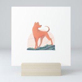 doggust: shar pei Mini Art Print