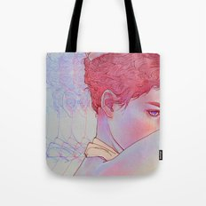 Untitled psychedelic girl drawing Tote Bag