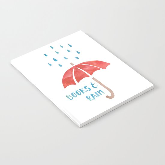 Books and Rain Notebook