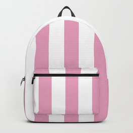 Pink and white stripes Backpack