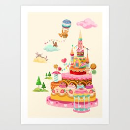 Ice Cream Castles In The Air Art Print