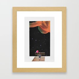 Exploring the Infinite Unknown Framed Art Print