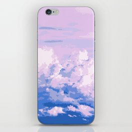 Cotton Candy in Sky iPhone Skin