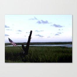 American Marsh View Canvas Print