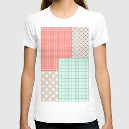 Retro patchwork T-shirt
