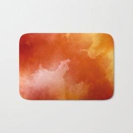 Sunset Glow Abstract Art Bath Mat