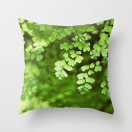 maidenhair Throw Pillow