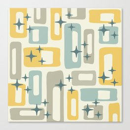 Mid Century Modern Geometric Abstract 132 Canvas Print