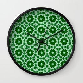 Green Doily Wall Clock