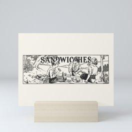 Vintage Illustration, Sandwiches Mini Art Print