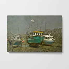 Waiting for the tide Metal Print