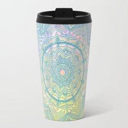 pink splash mandala Travel Mug