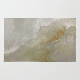 Soft Gold and Creamy Marble Pattern Rug