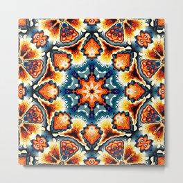 Colorful Concentric Motif Metal Print