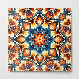Colorful Concentric Motif Metal Print