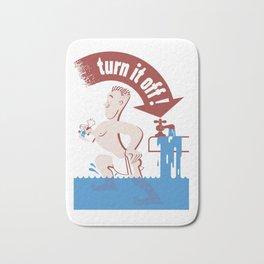 Water - Turn It Off Bath Mat
