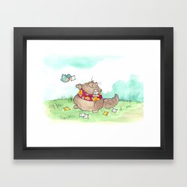 Tommy Tweets Framed Art Print