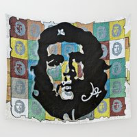 che Wall Tapestries featuring Everywhere a Che, Che by Ethna Gillespie