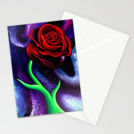 Space Rose Stationery Cards