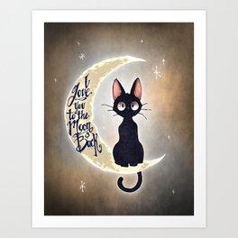 I Love You To The Moon & Back Art Print