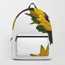 Painted Sunflower - Yellow and Orange Palette Backpack