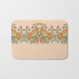 Butterflies over Garden of Thorns and Roses Bath Mat