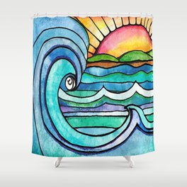 Beachy #society6 #spring #summer Shower Curtain