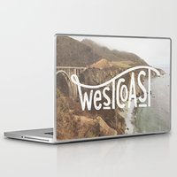 west coast Laptop & iPad Skins featuring West Coast by cabin supply co
