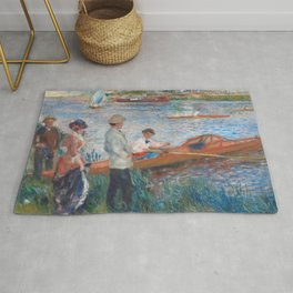 Oarsmen at Chatou Painting by Auguste Renoir Rug