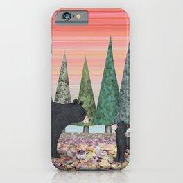 black bears & evergreens iPhone Case