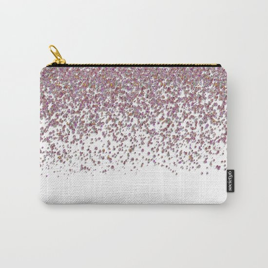 Sparkling rose quartz glitter confetti- Luxury design Carry-All Pouch