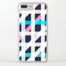 Slanted Lines Clear iPhone Case
