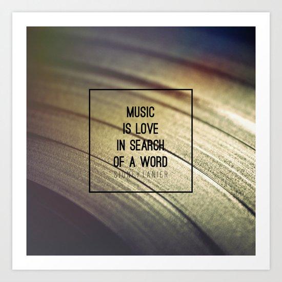 Music Is Art Print