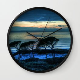 Sardinia, the beach at dusk Wall Clock